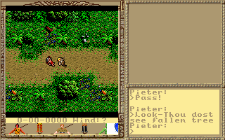 The Savage Empire button bar tiles are not stored in the same place as the Ultima VI ones..
