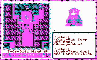 Ultima VI in glorious CGA. Note that this is not perfect yet, the non-tile-based graphics are still in VGA colours